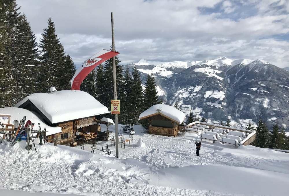 Skigebiet Fügen im Zillertal - von Fügen auf das Spieljoch